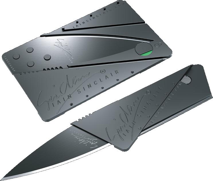 фото ножа кредитки